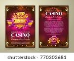 vector casino flyer  cartoon... | Shutterstock .eps vector #770302681