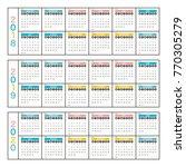 2018 2019 2020 calendar planner ... | Shutterstock .eps vector #770305279