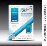 mobile apps flyer template.... | Shutterstock .eps vector #770305594