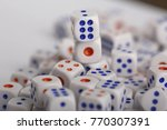 a lot of dice  the texture of... | Shutterstock . vector #770307391