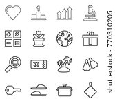 thin line icon set   heart ... | Shutterstock .eps vector #770310205
