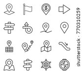 thin line icon set   pointer ... | Shutterstock .eps vector #770310259