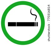 smoking area sign. cigarette... | Shutterstock .eps vector #770316814