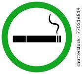 smoking area sign. cigarette... | Shutterstock .eps vector #770316814