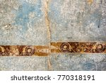 a wall with a crack  destroyed... | Shutterstock . vector #770318191