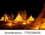 native american indian tent at... | Shutterstock . vector #770318455