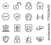 thin line icon set   wireless... | Shutterstock .eps vector #770319655