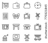thin line icon set   shop... | Shutterstock .eps vector #770321845