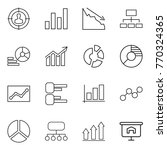 thin line icon set   target... | Shutterstock .eps vector #770324365