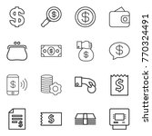 thin line icon set   dollar ... | Shutterstock .eps vector #770324491