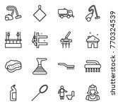 thin line icon set   vacuum... | Shutterstock .eps vector #770324539