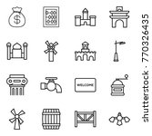 thin line icon set   money bag  ... | Shutterstock .eps vector #770326435