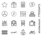 thin line icon set   star  gift ...