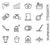 thin line icon set  ... | Shutterstock .eps vector #770326579