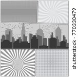 comic book page background with ... | Shutterstock .eps vector #770330479