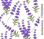 seamless vector lavender...   Shutterstock .eps vector #770333044