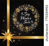 big winter sale poster with... | Shutterstock .eps vector #770334901