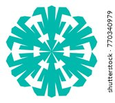 snowflake. blue snowflake on... | Shutterstock .eps vector #770340979