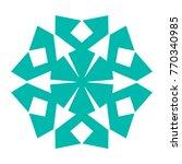 snowflake. blue snowflake on... | Shutterstock .eps vector #770340985