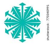 snowflake. blue snowflake on... | Shutterstock .eps vector #770340991