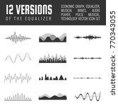 vector sound waves set. audio... | Shutterstock .eps vector #770343055