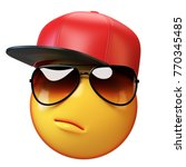 cool emoji isolated on white... | Shutterstock . vector #770345485