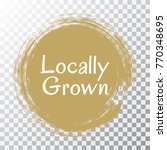 locally grown food icon painted ... | Shutterstock .eps vector #770348695