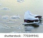 white female figure skates on... | Shutterstock . vector #770349541