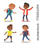 set of schoolboys first year... | Shutterstock .eps vector #770351494