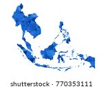 australia map   blue color... | Shutterstock .eps vector #770353111