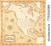 vector vintage map of the... | Shutterstock .eps vector #770354389