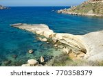 Small photo of Scenic view of Gnenja bay, Malta. Crystal sea near Gnenja bay in Malta. ?nejna Bay is a popular tourist destination located about 1 kilometer from the village of M?arr on the western coast of Malta