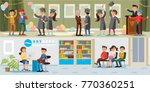 people in university horizontal ... | Shutterstock .eps vector #770360251