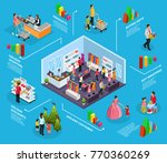 isometric holiday shopping... | Shutterstock .eps vector #770360269