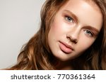 beautiful young woman with... | Shutterstock . vector #770361364