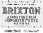 vintage font alphabet... | Shutterstock .eps vector #770362969
