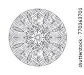 vector beautiful hand drawn... | Shutterstock .eps vector #770363701