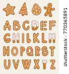 vector cartoon set of alphabet... | Shutterstock .eps vector #770365891
