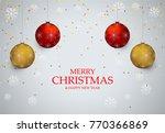 christmas light vector... | Shutterstock .eps vector #770366869