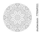 vector beautiful hand drawn... | Shutterstock .eps vector #770369311