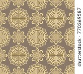 oriental seamless pattern  ...   Shutterstock .eps vector #770369587