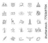 american culture icons  culture ... | Shutterstock .eps vector #770369704