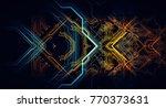 abstract technological... | Shutterstock . vector #770373631
