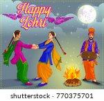 punjabi illustration for lohri... | Shutterstock .eps vector #770375701