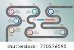 road map timeline infographic... | Shutterstock .eps vector #770376595