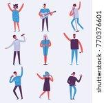 vector background in a flat... | Shutterstock .eps vector #770376601