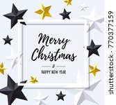 merry christmas and happy new...   Shutterstock .eps vector #770377159
