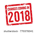 red stamp   changes coming in... | Shutterstock . vector #770378341