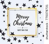 merry christmas and happy new... | Shutterstock .eps vector #770378731