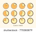 clock icon timer set vector... | Shutterstock .eps vector #770383879